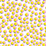 Colorful bubbles on white background. Colorful bubbles of various sizes on white background, abstract background Royalty Free Stock Photo