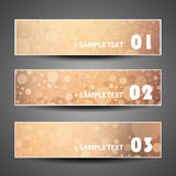 Colorful Bubbly Vector Set of Three Header Designs Stock Photo