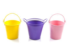 Colorful buckets Royalty Free Stock Images