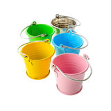 Colorful buckets Royalty Free Stock Photography