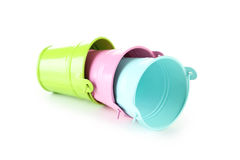 Colorful buckets Stock Photography