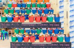 Free Colorful Buckets With Drinks To Buy, Thailand Royalty Free Stock Images - 54599459