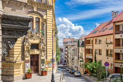 Colorful Budapest Street Royalty Free Stock Photo
