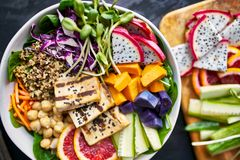Colorful buddha bowl Stock Images