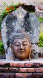 Colorful buddha. The head buddha statues is in wat yai chai mongkon thailand ayuttaya Stock Photo