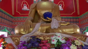 Colorful  Buddha statue in Dharamsala temple,India Stock Photography