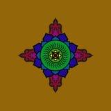 Colorful Buddhist mandala. Ethnic symbolic figure. Colorful Buddhist mandala. Ethnic symbolic figure of the East Royalty Free Stock Photos