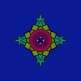 Colorful Buddhist mandala. Ethnic symbolic figure. Colorful Buddhist mandala. Ethnic symbolic figure of the East Stock Photos