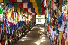 Colorful Buddhist prayer flags Royalty Free Stock Photos