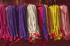Colorful buddhists beads rosary in asia, Kathmandu,Nepal Royalty Free Stock Photo