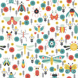 Colorful Bug Pattern Royalty Free Stock Photography
