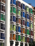 Colorful building. In Bilbao, Spain Royalty Free Stock Images