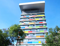 Colorful building. In Madrid, Spain stock photography