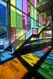 Colorful building. Colorful windows in modern building, montreal city, Canada royalty free stock photos