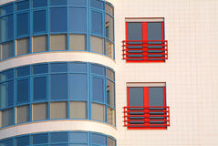 Colorful building. Colorful modern building royalty free stock photo