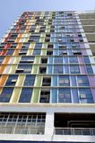 Colorful building. Shenzhen city, China. Colorful and original residential building in city center Stock Photo