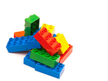 Colorful building blocks. On white background royalty free stock photo