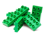 Colorful building blocks. On white background royalty free stock images