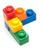 Colorful building blocks. On white background royalty free stock image