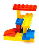 Colorful building blocks. On white background stock photography