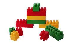 Colorful building blocks. Colorful children's building blocks royalty free stock photos