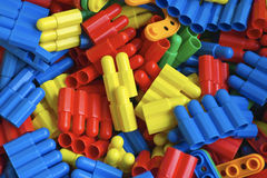 Colorful building blocks. Children's toys, colorful, plastic blocks royalty free stock photo