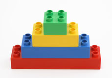 Colorful  building blocks Royalty Free Stock Photos