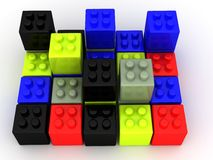 Colorful building blocks Royalty Free Stock Photography