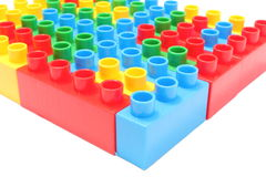 Colorful building blocks for children on white background Stock Images