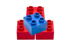 Colorful building blocks Stock Photos