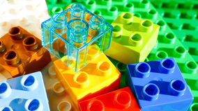 Colorful Building blocks - lego background Stock Photos