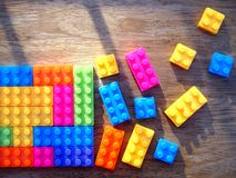Colorful building blocks Stock Images