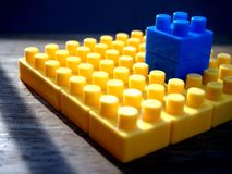 Colorful building blocks. Photo of colorful building blocks Stock Photography