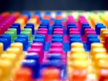 Colorful building blocks. Photo of colorful building blocks Royalty Free Stock Photography
