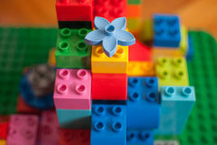 Colorful building blocks. Stacked on a pile Stock Photography