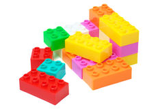 Colorful building blocks Stock Image