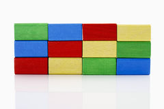Colorful building bricks royalty free stock images