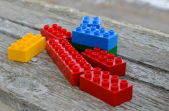 Colorful building bricks Stock Photography