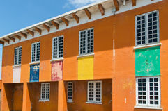 Colorful building. In the caribbean royalty free stock photo
