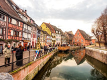 Colorful building in Colmar's old town, Alsace, France Royalty Free Stock Photo