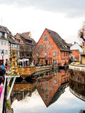Colorful building in Colmar's old town, Alsace, France Stock Images