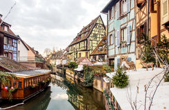 Colorful building in Colmar's old town, Alsace, France Stock Photography