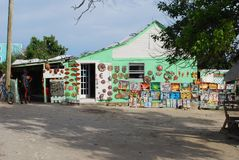 Colorful building. A colorful building in grand turk royalty free stock photography