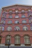 Colorful building on Copova Street in Ljubljana Royalty Free Stock Photography