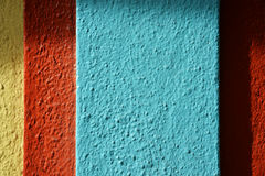 Colorful building detail. Colorful painted detail makes a striped background royalty free stock images