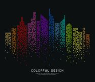 Colorful building dot design background Royalty Free Stock Photos