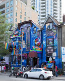 Colorful Building down Church Street. TORONTO, CANADA - 26TH JUNE 2014: The outside of a building down Church Street in Toronto during the annual World Pride royalty free stock image