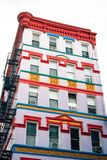 Colorful building in the East Village, Manhattan, New York City.  stock image