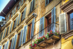 Colorful building facades in Florence Royalty Free Stock Photography