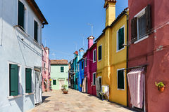 Colorful Building Facades. Photograph of colorful buildings in Italy royalty free stock images